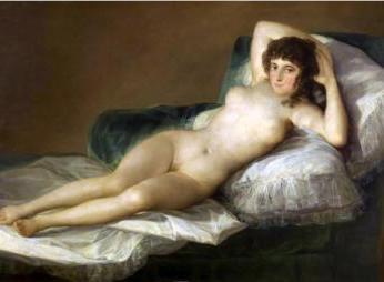 Gola Maja - slika Francesca Goye